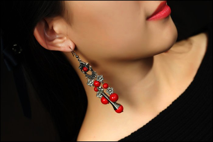 handmade national bohemia style tibet earrings