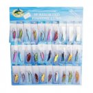 30 pcs Kinds of Fishing Lures Crankbait Minnow Poper Bass Baits Hooks Tackle