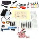 2 Guns Tattoo Machines Kit Beginner LCD Power Supply 6 Inks TM120228