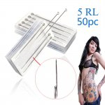 50pcs Professional Sterilized Round Liner Tattoo Needles 5RL (contact for bulk orders)