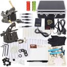 2 Guns Tattoo Machines Kit with Case Power Needles Aftercare