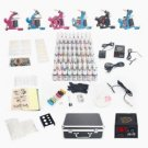 DRAGONHAWK Professional 6 Tattoo Machines Kit with LCD Power Supply 54 Inks