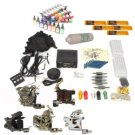 5 Guns Tattoo Machine Kit LCD Power Supply 100 Needles 40 Inks