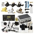 6 Gun Tattoo Machines Kit LCD Power Supply 50 Needles