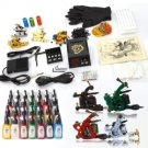7 Gun Tattoo Machine Kit Needles Grips Tips Supplies 28 Inks TM015002
