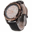 Fashion PU Leather Round Dial Copper Pointer Wrist Watch for Eyki S9413G