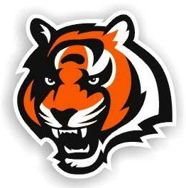 Cincinnati Bengals Tiger Head Car Magnet