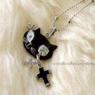 Stylish Black Cat Necklace