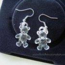 Clear Little Bear Earrings
