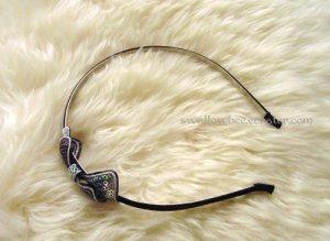 Sparkling Black and Silver Headband
