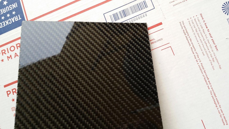 "Carbon Fiber Panel 24""x24""x3/32"""