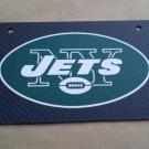Carbon Fiber License Plate NY JETS