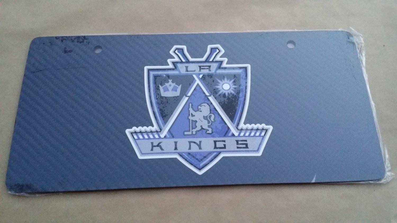Carbon Fiber License Plate LA KINGS