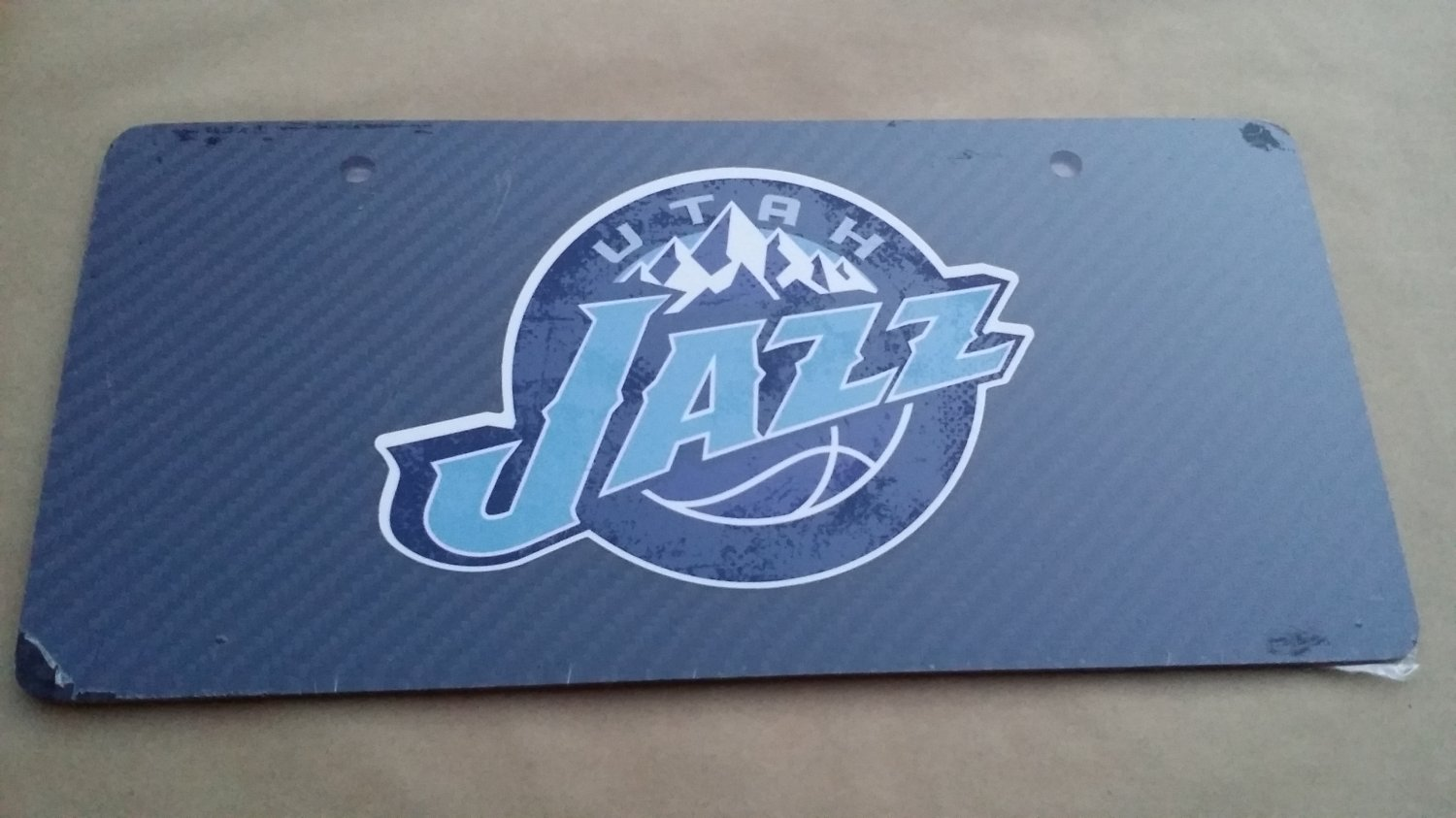 Carbon Fiber License Plate UTAH JAZZ