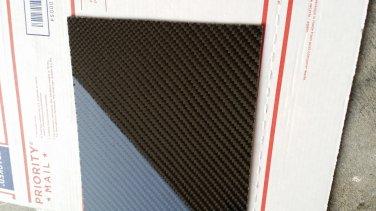 "Carbon Fiber Panel 24""x24""x1/8"" Both Sides Glossy"