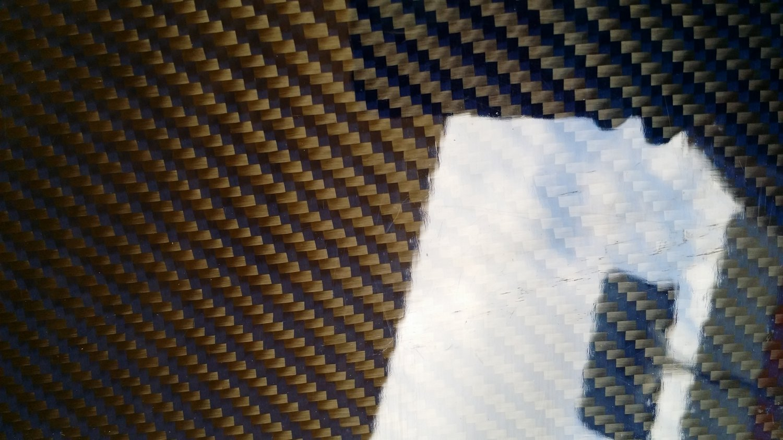 "Carbon Fiber Panel 12""x24""x3/32"" Both Sides Glossy blue"