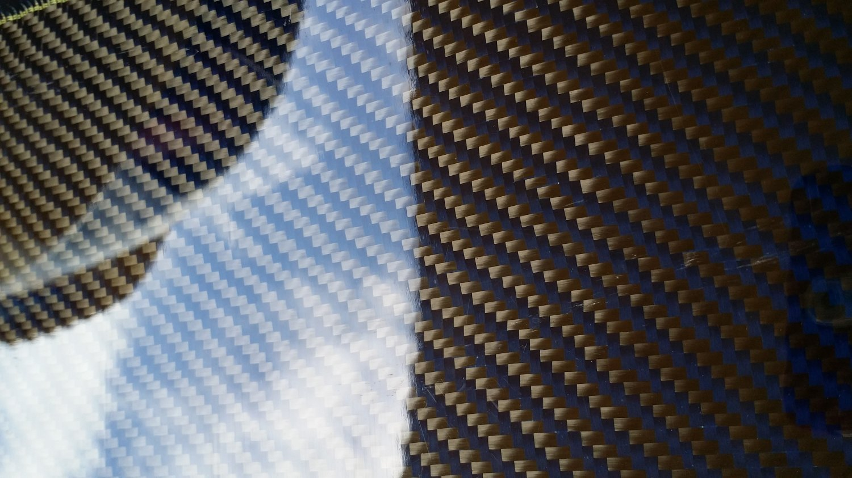 "Carbon Fiber Panel 6""x30""x1/8"" Both Sides Glossy blue"