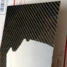 "Real Carbon Fiber Fiberglass Panel Sheet Board Plate 6""×12""×1/32"" Glossy One Side"