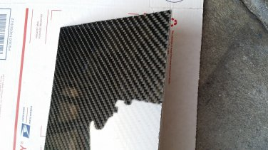 "Real Carbon Fiber Fiberglass Panel Sheet Board Plate 6""�18""�1/32"" Glossy One Side"