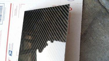 "Real Carbon Fiber Fiberglass Panel Sheet Board Plate 18""�18""�1/32"" Glossy One Side"