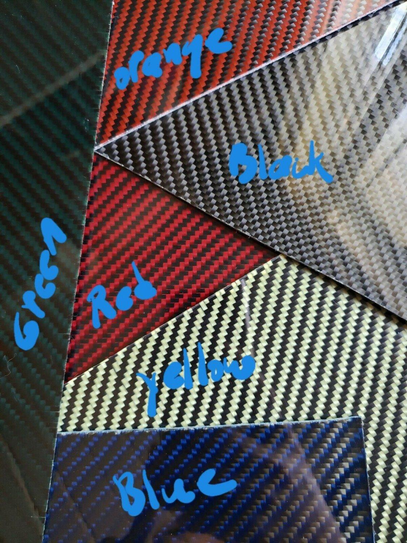 """6""""x12""""x1/32"""" 2x2 Twill Carbon Fiber Fiberglass Sheet Panel Glossy One Side"""