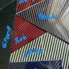 """6""""x12""""x1/4"""" 2x2 Twill Carbon Fiber Fiberglass Sheet Panel Glossy One Side"""