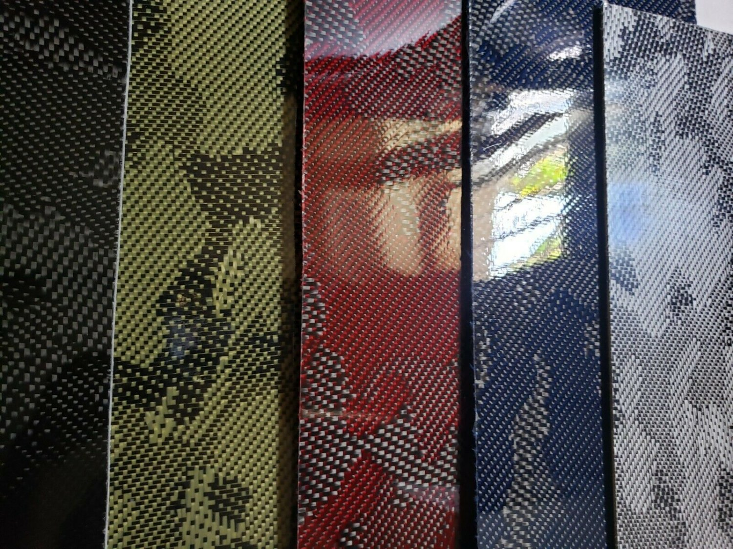 """18""""x24""""x1/32"""" Camouflage Carbon Fiberglass plate Sheet Panel Glossy One Side"""