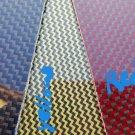 "6""x24""x1/16"" 2x2 Dual Twill Carbon Fiberglass plate Sheet Panel Glossy One Side"