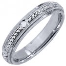 MENS WEDDING BAND ENGAGEMENT RING 14KT WHITE GOLD HIGH GLOSS FINISH 4mm