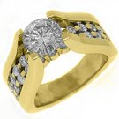2.73CT WOMENS DIAMOND ENGAGEMENT WEDDING RING ROUND CUT TENSION SET YELLOW GOLD
