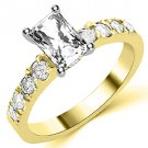 1.6 CARAT WOMENS DIAMOND ENGAGEMENT WEDDING RING RADIANT CUT SHAPE YELLOW GOLD