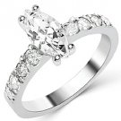 1.6 CARAT WOMENS DIAMOND ENGAGEMENT WEDDING RING MARQUISE CUT SHAPE WHITE GOLD