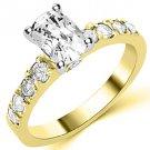 1.6 CARAT WOMENS DIAMOND ENGAGEMENT WEDDING RING CUSHION CUT SHAPE YELLOW GOLD