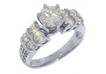 2 CARAT WOMENS DIAMOND ENGAGEMENT WEDDING RING BRILLIANT ROUND CUT WHITE GOLD