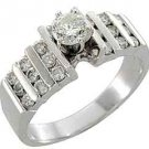 1 CARAT WOMENS DIAMOND ENGAGEMENT WEDDING RING BRILLIANT ROUND CUT WHITE GOLD