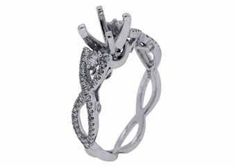 .53 CARAT WOMENS DIAMOND ENGAGEMENT RING SEMI-MOUNT ROUND CUT WHITE GOLD