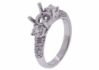 .87 CARAT WOMENS DIAMOND ENGAGEMENT RING SEMI-MOUNT ROUND CUT WHITE GOLD