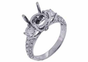 1.32 CARAT WOMENS DIAMOND ENGAGEMENT RING SEMI-MOUNT ROUND CUT WHITE GOLD