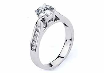 WOMENS DIAMOND ENGAGEMENT RING BRILLIANT ROUND CUT 1.26 CARAT 14KT WHITE GOLD