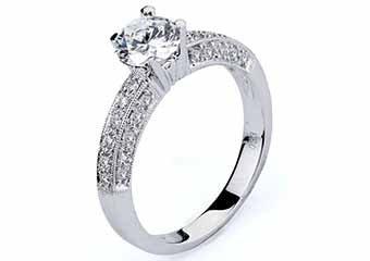 WOMENS DIAMOND ENGAGEMENT RING BRILLIANT ROUND CUT 1.33 CARAT 14K WHITE GOLD