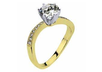 WOMENS DIAMOND ENGAGEMENT RING BRILLIANT ROUND CUT 1.09 CARAT 14K YELLOW GOLD