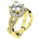 WOMENS DIAMOND ENGAGEMENT RING ROUND CUT 1.70 CARAT 18K YELLOW GOLD
