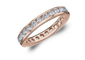 DIAMOND ETERNITY BAND WEDDING RING ROUND CHANNEL SET 14KT ROSE GOLD 1.50 CARATS