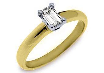 .65 CARAT WOMENS SOLITAIRE EMERALD SHAPE CUT DIAMOND ENGAGEMENT RING YELLOW GOLD