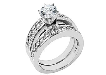 1.65CT WOMENS DIAMOND ENGAGEMENT RING WEDDING BAND BRIDAL SET ROUND WHITE GOLD