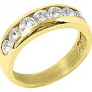 MENS 1.20 CARAT BRILLIANT ROUND CUT DIAMOND RING WEDDING BAND 14KT YELLOW GOLD