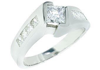 1.75CT WOMENS DIAMOND ENGAGEMENT WEDDING RING PRINCESS TENSION SET WHITE GOLD