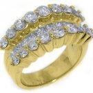 3.48CT WOMENS BRILLIANT ROUND PRINCESS CUT DIAMOND RING WEDDING BAND YELLOW GOLD