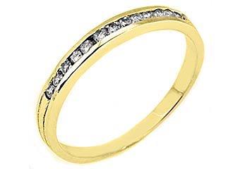 1/4 CARAT WOMENS BRILLIANT ROUND CUT DIAMOND RING WEDDING BAND YELLOW GOLD