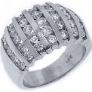 2.08 CARAT WOMENS BRILLIANT ROUND CUT DIAMOND RING WEDDING BAND WHITE GOLD